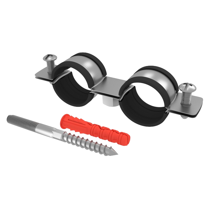 Chemtrol Australia Product - Double metal pipe clamp with EPDM rubber – set