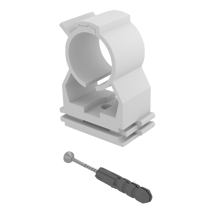Chemtrol Australia Product - Expert pipe clip with screw and plug