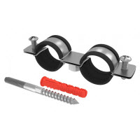 Chemtrol Australia Category Image - DOUBLE metal pipe clamp set with EPDM rubber