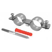Chemtrol Australia Category Image - DOUBLE metal pipe clamp set, Screw and Plug