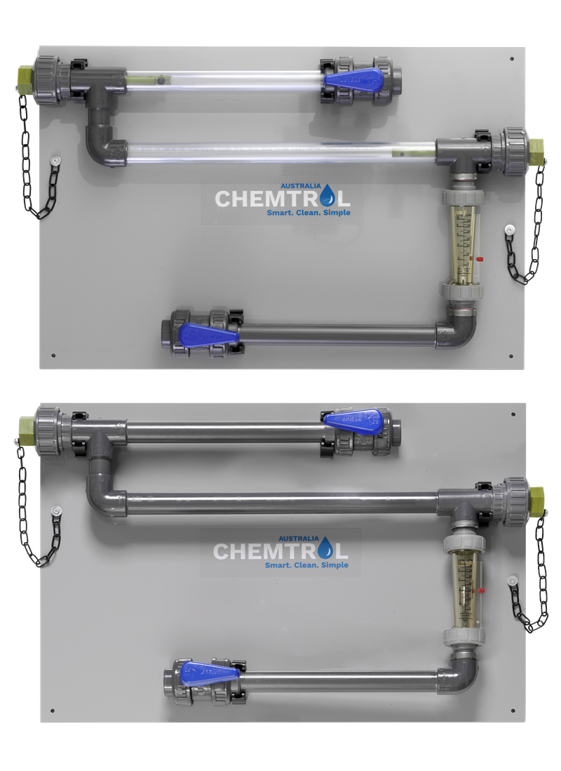 Chemtrol Australia Product - Corrosion Coupon Rack with Flowmeter