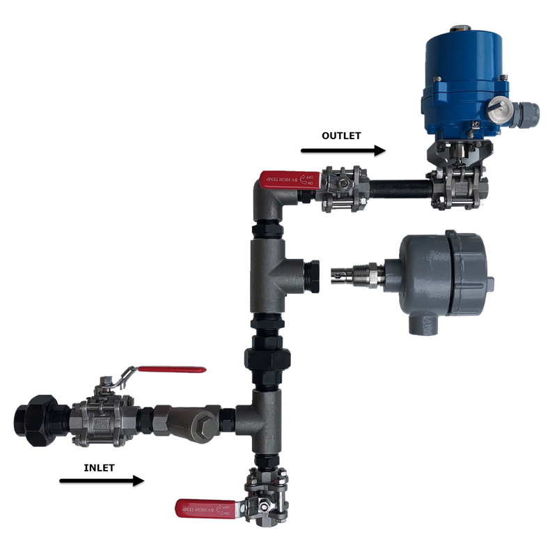 Chemtrol Australia Category Image - Boiler Plumbing Setup with Electric Actuator